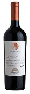 Errazuriz Carmenere Single Vineyard 2011...